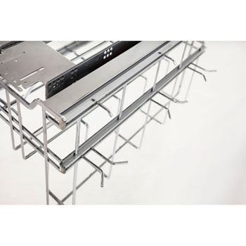 """Hardware Resources Hanging Soft Close Pan Organizer with Lid Storage and Adjustable Hooks, Polished Chrome, 15-5/8""""W x 22-5/8""""D x 13-7/16""""H"""