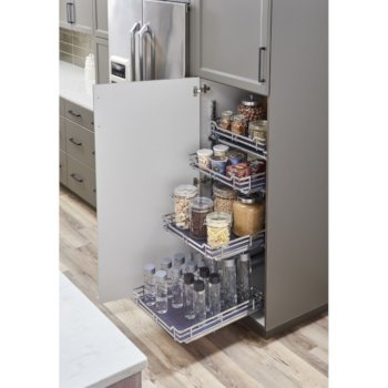 """Hardware Resources Storage with Style™ Wire Pullout Basket in Polished Chrome, For 21"""" Minimum Cabinet Opening, 9-9/16"""" W x 22-1/16"""" D x 5-7/16"""" H"""