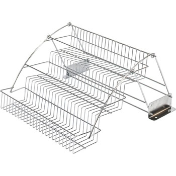 Hardware Resources 3-Tier Polished Chrome Spice Rack Pulldown
