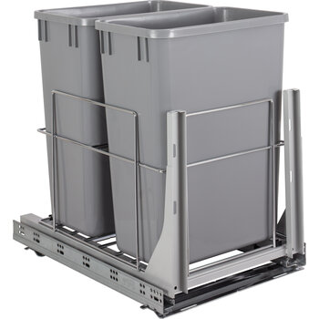 Double 35qt Trashcan Pullout - Display