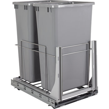 Double 50qt Trashcan Pullout - Display