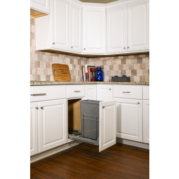Single 35qt Trashcan Pullout - Lifestyle View