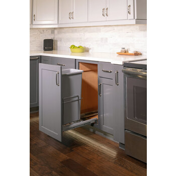 Single 50qt Trashcan Pullout - Lifestyle View