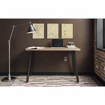 Home Styles Brooklyn Light Weight Desk in Oak