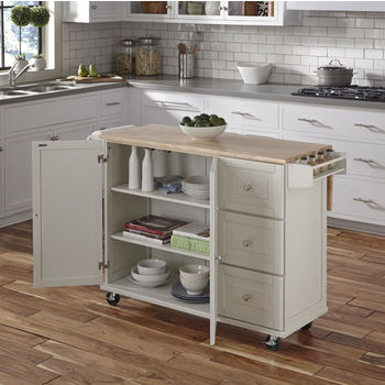 White w/ Wood Top Cabinet View