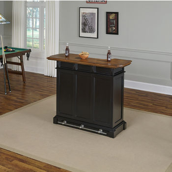 Bar in Black Finish, Front View