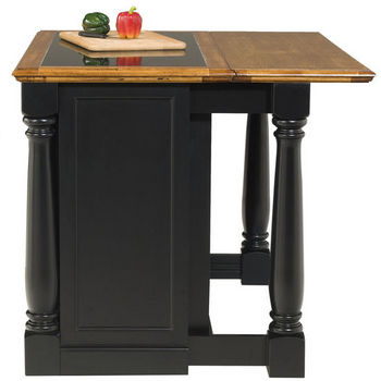 Home Styles Monarch Kitchen Island with Granite Insert Top