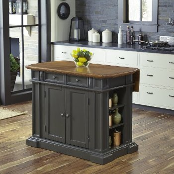 "Home Styles 48"" Wide Americana Kitchen Island in Grey, 48"" W x 26"" D x 36"" H"