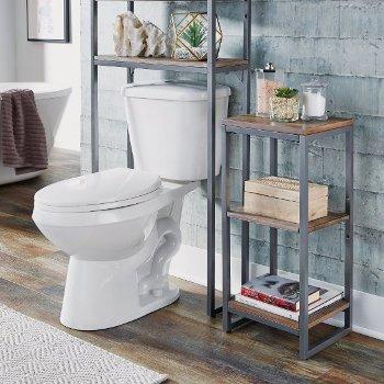 "Home Styles Barnside Metro Three Tier Bath Shelf, Driftwood, 13"" W x 11"" D x 28-1/4"" H"