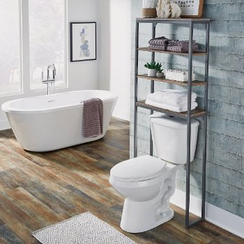 "Home Styles Barnside Metro Over the Commode Bath Shelf , Driftwood, 25"" W x 8-1/2"" D x 64"" H"