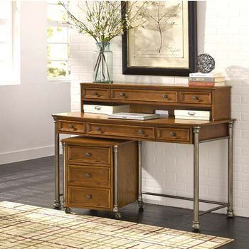 Home Styles The Orleans Executive Desk, Hutch and Mobile File, Vintage Caramel Finish