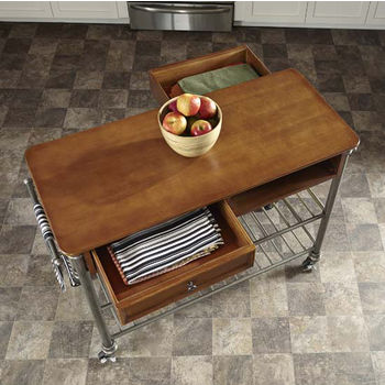 Home Styles The Orleans Kitchen Cart, 45'' W x 20'' D x 36'' H, Vintage Caramel Finish