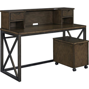 Desk with Hutch and File Cabinet Product View