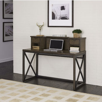Desk, Hutch, File Cabinet, and Swivel Chair