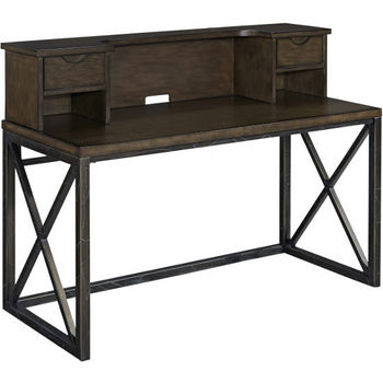 Desk, Hutch, File Cabinet, and Swivel Chair- Product View