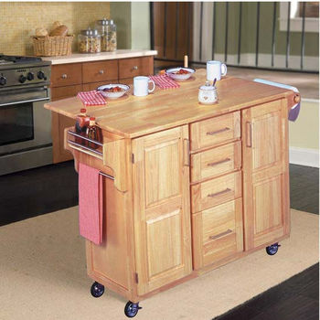 Home Styles Kitchen Island with Foldaway Breakfast Bar