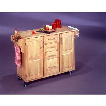 Home Styles Kitchen Island with Foldaway Breakfast Bar