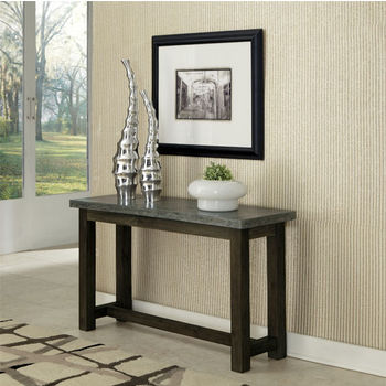 Home Styles Concrete Chic Console Table, Brown/Gray, 48'' W x 16'' D x 28'' H