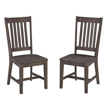"Home Styles Concrete Chic Dining Chairs, Sold as Set of 2, 17-3/4"" W x 30"" D x 40"" H, Weathered Brown Finish"