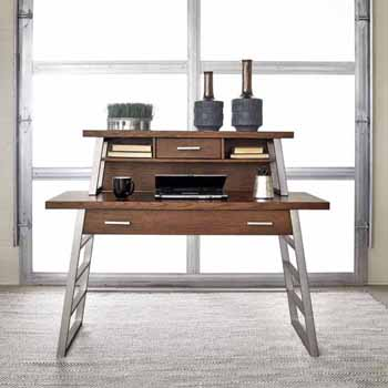 """Home Styles Degree Home Office Desk with Hutch, Modern Brown, 54""""W x 24""""D x 43-3/4""""H"""