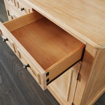 Kitchen Island Opened Drawer View