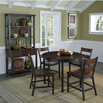 Home Styles Cabin Creek 5-Piece Dining Set, Multi-Step Chestnut
