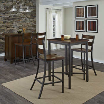 Home Styles Cabin Creek 3 Piece Bistro Table Set
