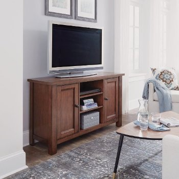 """Home Styles 56"""" Wide Tahoe Entertainment Credenza in Aged Maple, 56"""" W x 18"""" D x 32"""" H"""