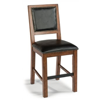 """Home Styles Tahoe Counter Stool in Aged Maple, 42"""" Overall Height, Seat Height: 24"""" H"""