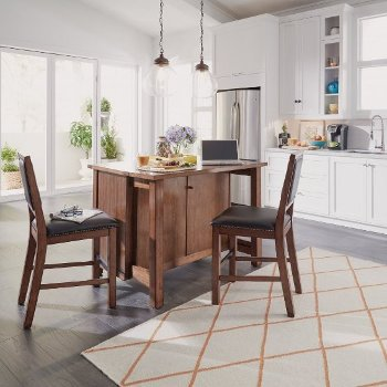 Wondrous 48 Wide Tahoe Kitchen Island And 2 Stools In Aged Maple Pabps2019 Chair Design Images Pabps2019Com