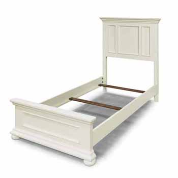 "Home Styles Dover Twin Bed, White, 44-1/2""W x 83-1/4""D x 54""H"