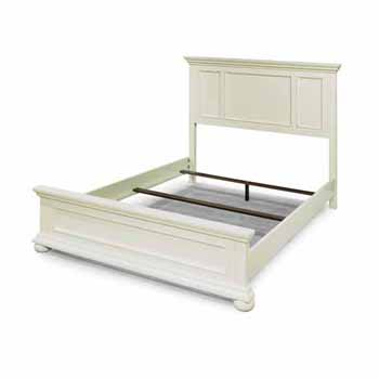 "Home Styles Dover Queen Bed, White, 66-1/2""W x 89-1/4""D x 54""H"