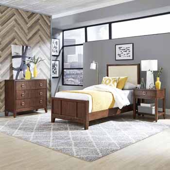 Twin Bed, Night Stand & Chest