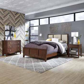 Queen Bed, Night Stand & Chest