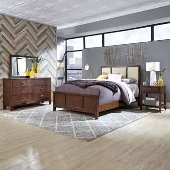 Queen Bed, Night Stand & Dresser with Mirror