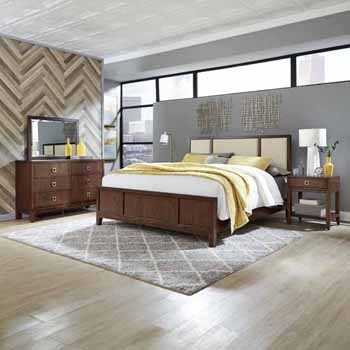 King Bed, Night Stand & Dresser with Mirror