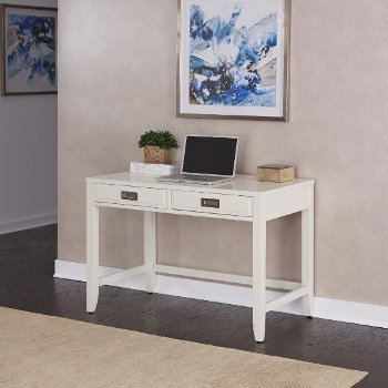 "Home Styles Newport Student Desk in Satin White, 44"" W x 24"" D x 30"" H"