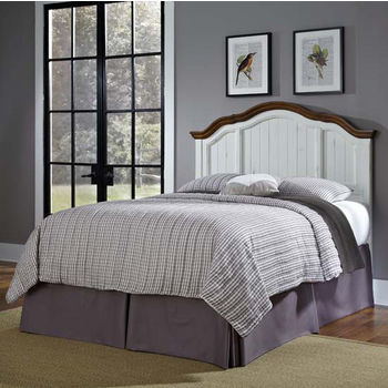 Home Styles The French Countryside Oak and Rubbed White Full/Queen Headboard, 66'' W x 3-1/4'' D x 58'' H