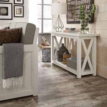 """Home Styles Seaside Lodge Console Table, White, 48""""W x 17""""D x 30""""H"""