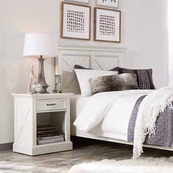 """Home Styles Seaside Lodge Night Stand, White, 22""""W x 17""""D x 26""""H"""