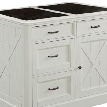 """Home Styles Seaside Lodge Kitchen Island in Hand Rubbed White, 47"""" W x 30"""" D x 36"""" H"""