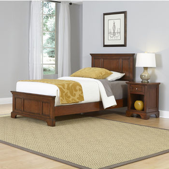Twin Bed and Night Stand