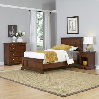 Twin Bed, Night Stand, and Chest