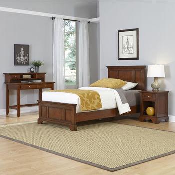 Twin Bed, Night Stand, and Student Desk