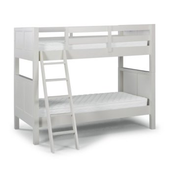 """Home Styles Naples Collection Twin Over Twin Bunk Bed in Off White, 77"""" W x 44"""" D x 64-3/4"""" H"""