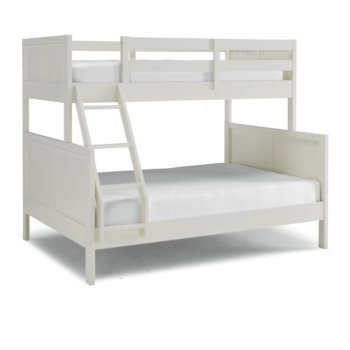 """Home Styles Naples Collection Twin Over Full Bunk Bed in Off White, 78"""" W x 58"""" D x 64-3/4"""" H"""