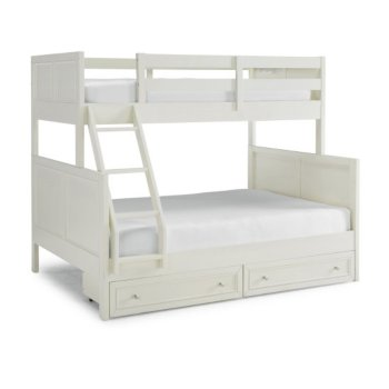 Full Bunk Bed w/ Storage Drawers Angle View