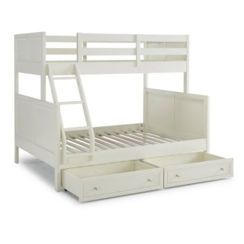 Full Bunk Bed w/ Storage Drawers Angle Opened View