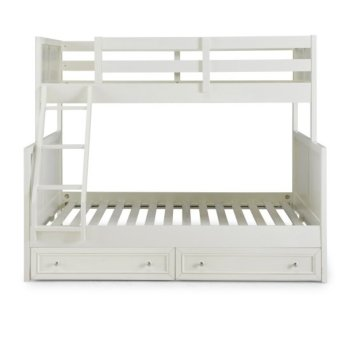 Full Bunk Bed w/ Storage Drawers Front View Illustration