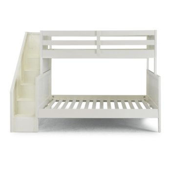 Full Bunk Bed w/ Steps Front View Illustration